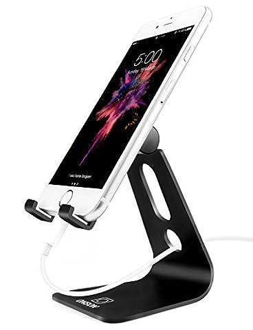 Support Téléphone, ONSON® Portable Dock iPhone : Multi Position Support Telephone pour iPhone 8 8 plus 7 7 plus 6 6s 5s 5 4s, HUAWEI, Samsung Galaxy S3 S4 S5 S6 S7 S8,Note 8, Bureau, Accessoires, Aluminium, D'autres Smartphones - Noir