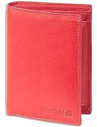 Rimbaldi - boulon portefeuille en format vertical de particulièrement doux, cuir de veau traitée Rouge