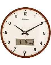 Seiko Brown Wooden Day/Date Wall Clock QXL008B(36 X 36 cm)