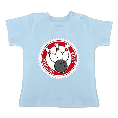 Sport Baby - Bowling Club Badge Abzeichen - 1-3 Monate - Babyblau - BZ02 - Baby T-Shirt Kurzarm