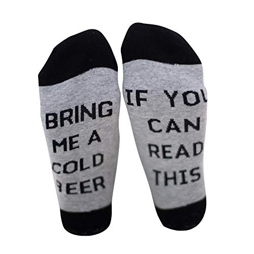 """Aolvo witzige Wein-Socken mit Aufschrift """"If You Can Read This Bring Me Some Wine"""", Baumwolle, tolles Geschenk für Geburtstag, Party, Halloween, Weihnachten (EIN Paar/20 x 15 cm) g"""