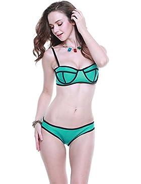 Botobkn Neopreno Traje de Buceo de la Mujer Traje de ba?o Traje de ba?o bikini Brillante