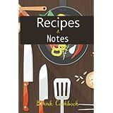Recipes & Notes Blank Cookbook (blank recipe book)