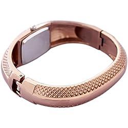 Tonsee Fashion Golden Oval Quartz Watch Lady Cuff Bangle Bracelet Wristwatch