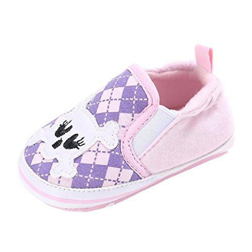 BZLine® Baby Baumwolle weiche Sohle Schuh weiche Schuhe Flats Schuhe Pink