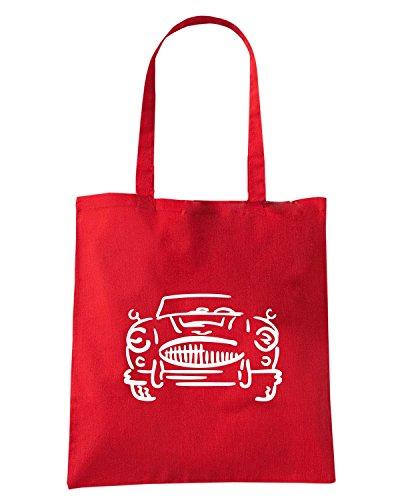 T-Shirtshock - Borsa Shopping FUN0655 austinhealey 3000 white tshirt Rosso