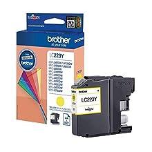 Brother LC223Y Cartuccia InkJet Originale Alta Capacità, fino a 550 Pagine, per Stampanti MFCJ5720DW, MFCJ4420DW, MFCJ4620DW, MFCJ5320DW, MFCJ5620DW, DCPJ562DW, MFCJ480DW, MFCJ680DW, Giallo