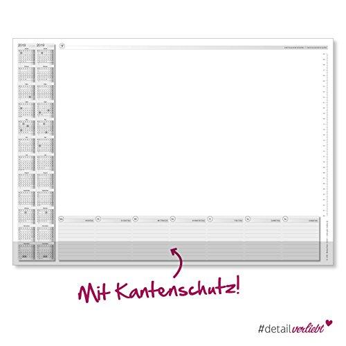 Schreibtischunterlage mit Kalendarium und Kantenschutz, Maßband, Massband, Schreibtisch, Unterlage,...