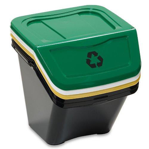 Dea Home Ecobin - Juego de 3 cubos de basura