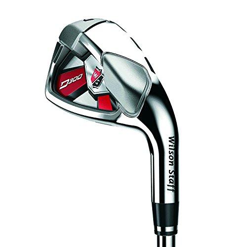 Wilson Staff Herren Golf-Set, Sechs Golfschläger, Rechtshand, D300, Regular Flex, graphit, WGR163450R