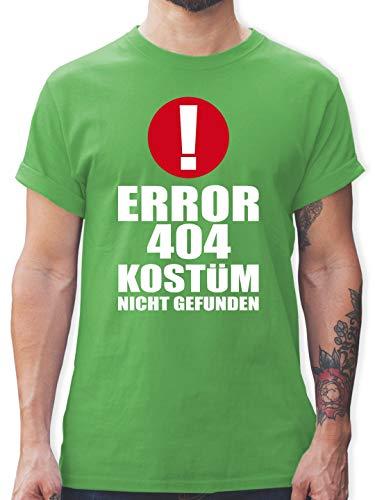 Karneval & Fasching - Error 404 Kostüm Nicht gefunden - M - Grün - L190 - Herren T-Shirt Rundhals