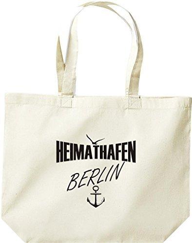 shirtstown grande borsa della spesa, Shopper Porta Casa Berlino Naturale