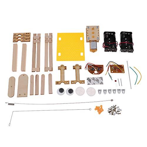 B Blesiya Holz DIY Balsten Maschine Wissenschaft Pädagogische Spielzeug, verschiedene Experimente - Roboter