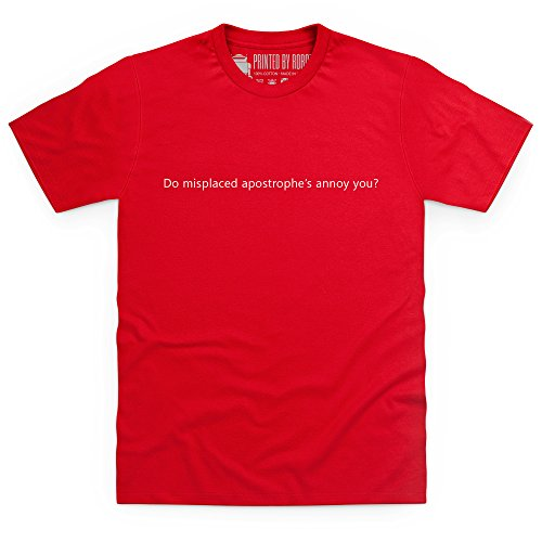 Misplaced Apostrophe's T-Shirt, Herren Rot