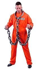 Idea Regalo - Guirca Costume Carcerato Americano Detenuto Hannibal Lecter Uomo, Colore Arancione, Taglia Unica, 80435
