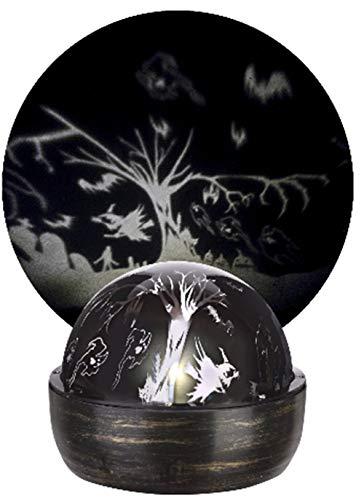 Funkelndes Lichtspiel LED Drehbar Halloween Schatten Projektion Licht mit Hexen, Geister, Kürbisse und Mehr. (1)