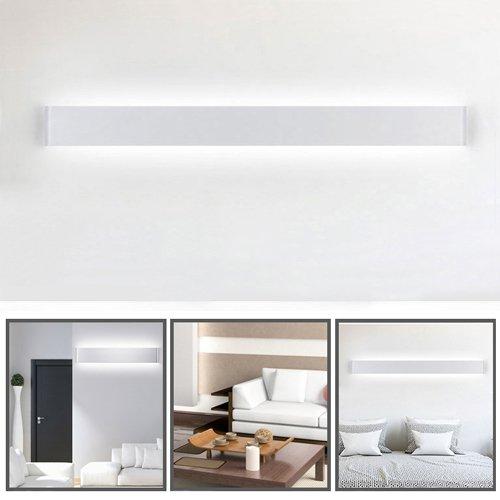 Ralbay Applique da Parete Interni LED Impermeabile IP44 con Trasfomatore Lampada Parete Moderna Luce Bagno Specchio 30W Pari a 80W Luce Bianco Neutro 4000~4500K 3900 lumen Angolo a Fascio 120 Gradi