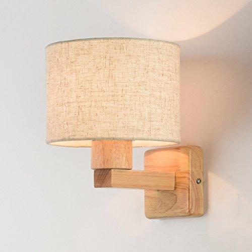 Einfache hölzerne Kunst Schlafzimmer Bedside Study Wohnzimmer Balkon Kreative Treppen Wand Lampe (Lampe Hölzerne)
