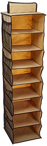 Organisieren 8-Shelf Schuh, Tasche mit Reißverschluss, Weizen (Hanging Jewelry Organizer-reißverschluss)