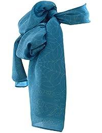 Pure Silk Batik Scarf in Sky Blue