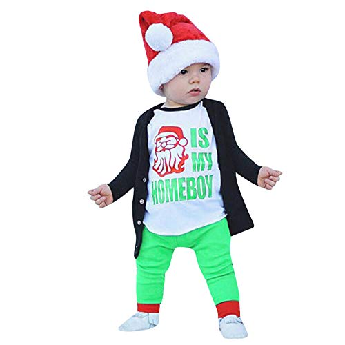 Anglewolf_Christmas Children Kids Boys Girls Long Sleeve Letter Print T-Shirt Top Clothes Little Sweater Pullover Autumn Winter Round Neck Jacket Newborn Infant Baby Girl Tops Outfits