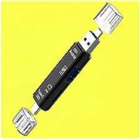 LridSu Portátil y Conveniente Cinco en uno Type-c Multi-Function Micro USB OTG Adapter y USB 2.0 Lector de Tarjeta de Memoria portátil para SDXC, SDHC, Tarjeta SD, Disco U (Negro)