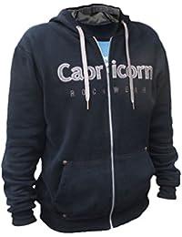 Capricorn Rockwear - Logo - schwarze Kapuzenjacke - mit Smartphone-Tasche 43d07ffad5