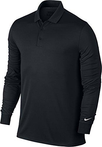 Nike Herren Victory Langarm Poloshirt, Black/White, M - Nike Dri-fit-golf Langarm