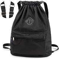 Hombro Lona Sport Bolsa Mochila Normal Backpack Algodón Negro Barniz Cordón Laat Mochila a6z5W