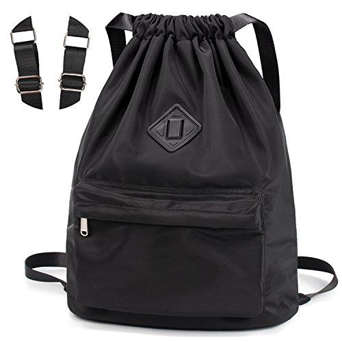 WANDF Wasserdichte Rucksack mit Teleskopischem Schulterriemen, für Einkauf und Sport Yoga