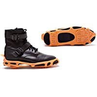 Power Crampones y Tacos de tracción para Nieve y Hielo. Lite Deber Serio tracción Tacos para Botas y Zapatos de Hielo Tacos. Color: Negro (Medium)