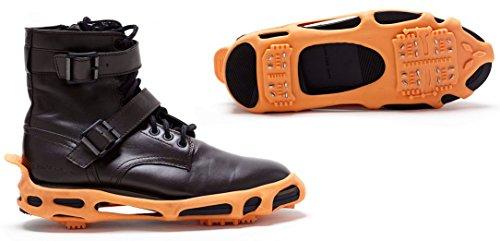 Power Traction Klampen Für Stiefel Und Schuh Ice Klampen, Perfekt Passend Zu Schuhen Und Stiefeln Für Sichere Aktivitäten Im Winter, Farbe: Schwarz (Large)