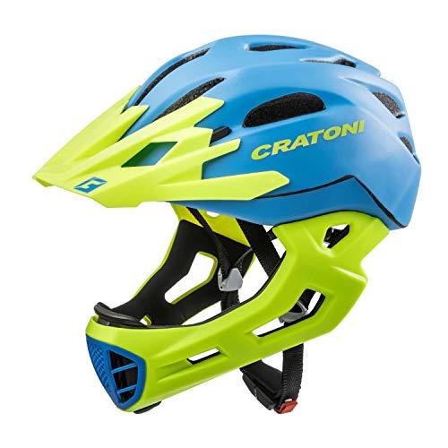 Cratoni Fahrradhelm C-Maniac, Blue-Lime Matt , 52-56 cm, 112406B1