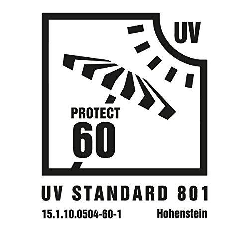 Pop Up Strandmuschel mit Boden UV-Schutz 40 oder 60 – 220 x 120 x 100 – cm in verschiedenen Farben (Grau / Grün UV60) - 6