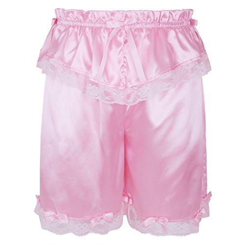 iixpin Herren Sissy Pink Höschen Männer Spitzen Stain Unterwäsche Erotik Dessous Unterhose Briefs Nachtwäsche