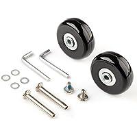 MEJOSER Gepäck Koffer Ersatz Wheels Rad Gummi Metall für Trolley Gepäckkoffer Hartschalenk ffer (60 * 6 * 18mm)