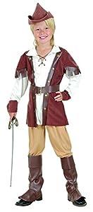 Bristol Novelty  Traje de Robin Hood Deluxe (L), Edad aprox 7-9 años