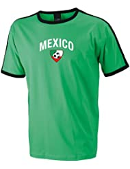 world-of-shirt Mexico Herren T-Shirt Team Flag Retro Trikot|