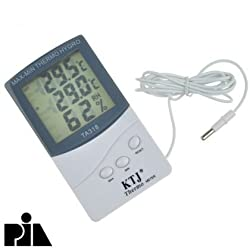 Pia International Indoor Outdoor Lcd Digital Thermometer With Hygrometer -Pia International