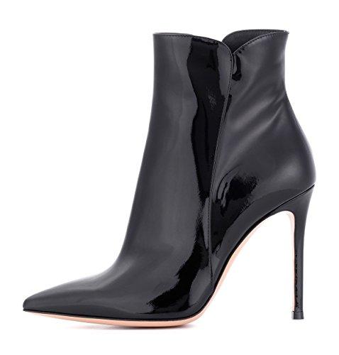 ots,Stiefeletten mit Absatz in Schwarz,High Heel Winter Stiefel Größe EU43 ()