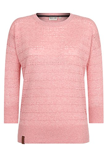Soft Knit Langarm (Naketano Female Knit Tittenalarm III Soft Pink Melange, XXL)