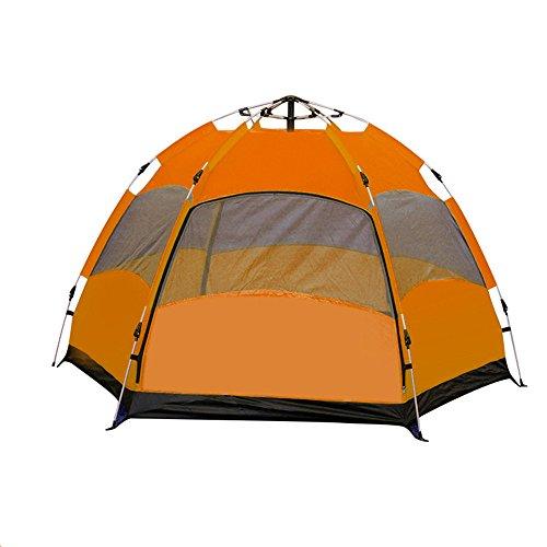 AiNaMei Vollautomatisches im Freien Hexen-Regenfeld-kampierendes Zelt 5-8 Leute, orange (Tuch Hexe Gute)