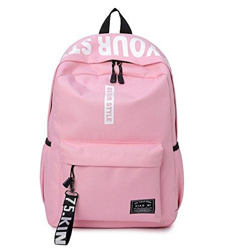 DNFC Canvas Schulrucksack Mädchen Jungen Rucksack Fashion Schulranzen Teenager Schultaschen Freizeitrucksack Mode Kinderrucksack Daypack...