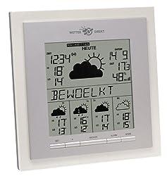 TFA Dostmann Eos satellitengestützte Funk-Wetterstation, 35.5017, mit Wettervorhersage, Wetterdirekt Technologie, Sturmwarnung