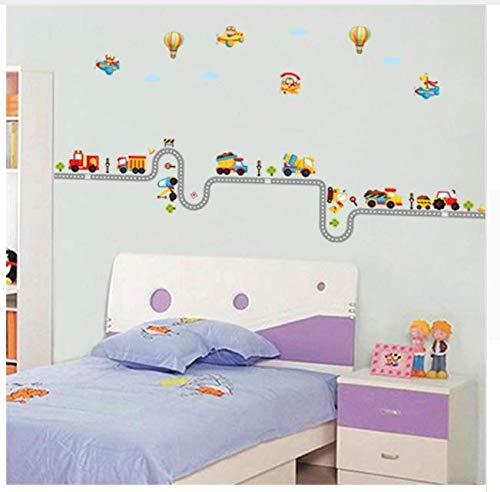Autobahn Auto Track Wandaufkleber Dekorative Kinder Baby Kinderzimmer Jungen Zimmer Aufkleber Poster Wohnkultur Aufkleber Wandbild Tapete