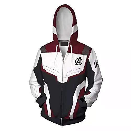 Kostüm Hero War - RHGZ Herren Hoodie Avengers Endgame Bekleidung Hoodie Hero Uniform Super Hero Quantum War Hoodie