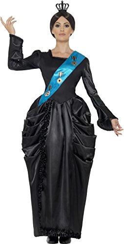 een Victoria Deluxe Kostüm mit Kleid angebaute Schärpe und Kopfschmuck (Queen Victoria Kostüme)