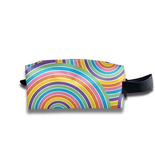 1960er Jahre Regenbogen Spin Around_8872 tragbare Reise Make-up Kosmetiktaschen Organizer Multifunktions Tasche Taschen für Unisex (Zubehör In Den 1960er Jahren)