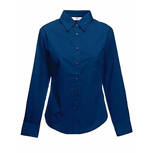Fruit of the Loom Women's Poplin Long Sleeve Shirt
