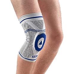 Nutrics | Aktiv Kniebandage | Damen und Herren | Patellapad + Spiralstangen | Linke und rechte Seite (L)